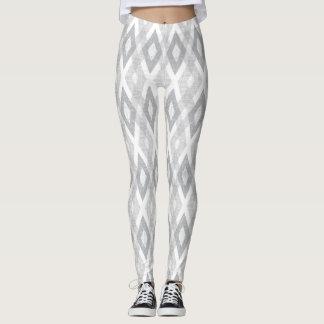 Leggings Modelo gris claro y blanco del Harlequin del