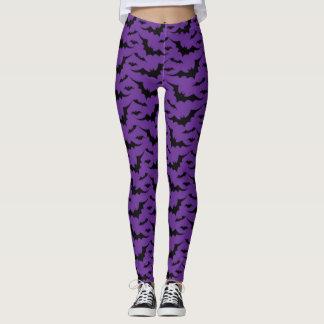 Leggings Modelo púrpura del palo