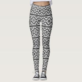 Leggings Modelo retro de Black&White del diseño gráfico