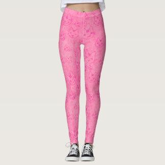 Leggings Modelo rosado lindo y de la diversión del gatito