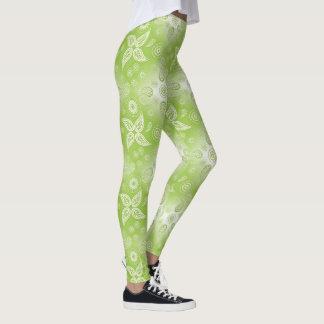 Leggings Modelo verde del verano de Paisley