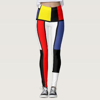 Leggings Mondrian, minimalist
