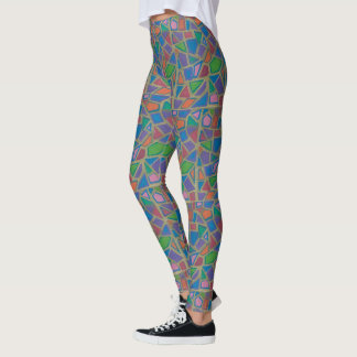 Leggings Mosaico y oro coloridos