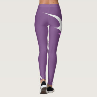 Leggings motivo rosado/blanco