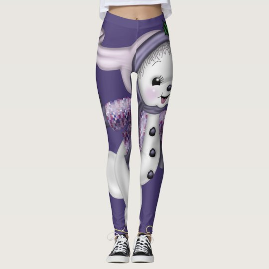 Leggings Muñeco de nieve patinador