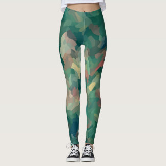 Leggings Musgo abstracto verde