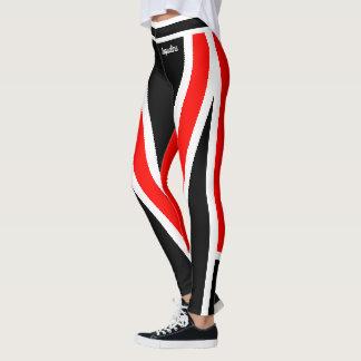 Leggings Negro blanco rojo