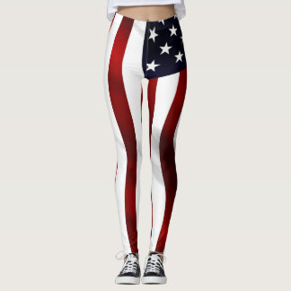 Leggings Onda de la bandera americana