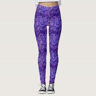 Leggings Paisley púrpura