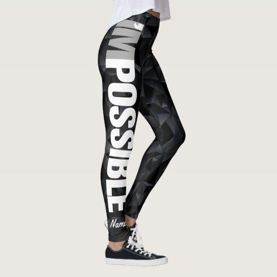 """Leggings Personalíceme """"son"""" las polainas negras POSIBLES"""