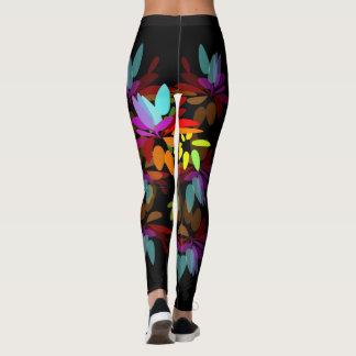 Leggings Pétalos eufóricos del arco iris del Hippie de