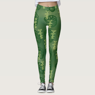 Leggings petroglifo verde