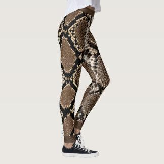 Leggings Piel de serpiente negro