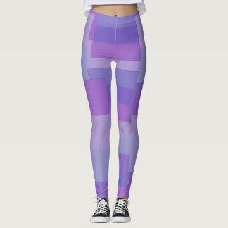 Leggings Piernas rayadas púrpuras