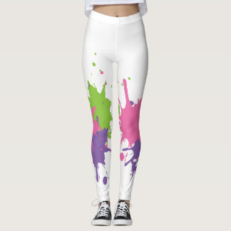 Leggings Pinte las polainas de Splat