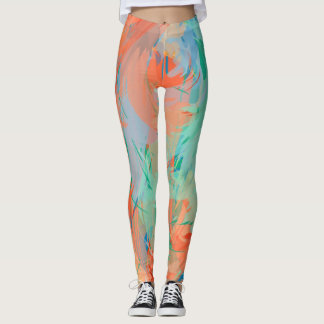 Leggings Pintura tropical abstracta