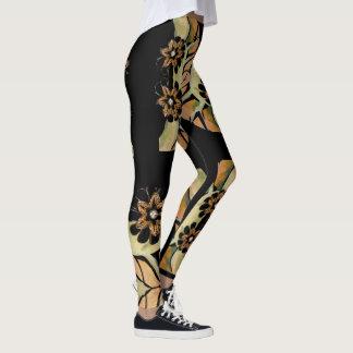 Leggings Polaina-Mujeres Jeweled de la moda de las flores