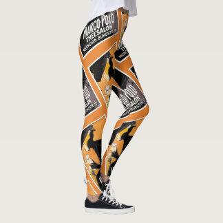 Leggings polainas 2 del poster del vintage
