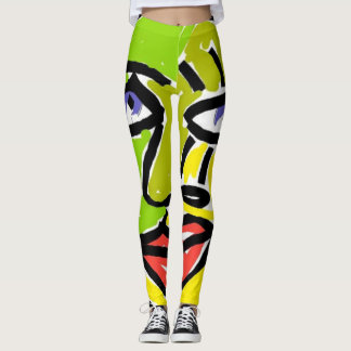 Leggings polainas abstractas