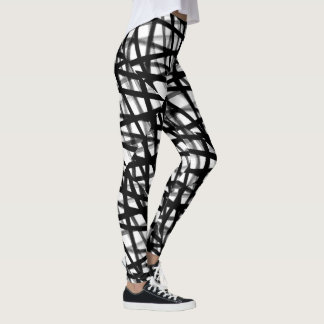 Leggings Polainas abstractas blancos y negros