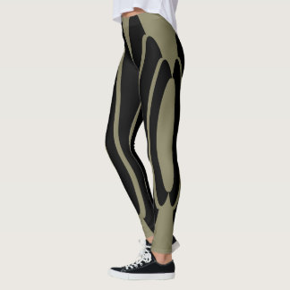 Leggings Polainas abstractas de la raya