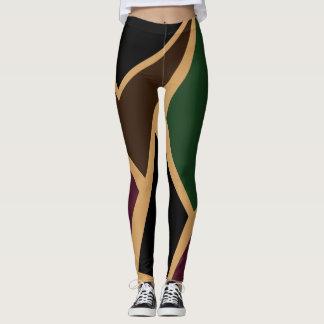 Leggings Polainas abstractas del camuflaje