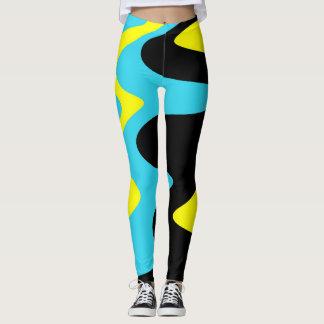 Leggings Polainas abstractas del diseño