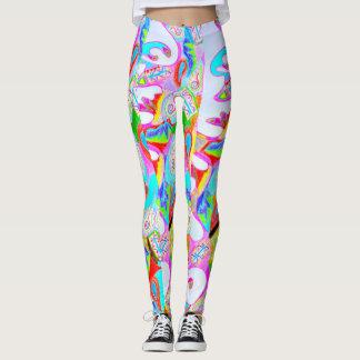 Leggings Polainas abstractas impresas coloridas del diseño
