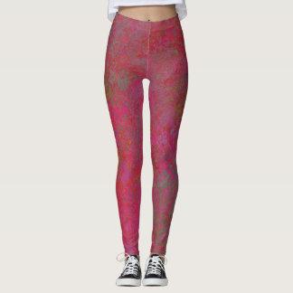 Leggings polainas abstractas rosadas