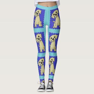 Leggings Polainas amarillas coloridas del perro del