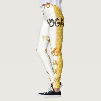 Leggings Polainas amarillas tribales del Grunge de la yoga