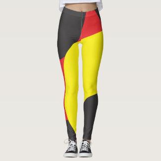 Leggings Polainas amarillas y negras rojas del modelo
