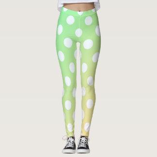 Leggings Polainas amarillas y verdes en colores pastel del