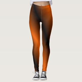 Leggings Polainas anaranjadas y negras
