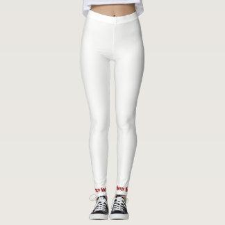 Leggings Polainas atractivas blancas