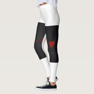 Leggings Polainas atractivas blancos y negros