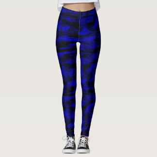Leggings polainas azules de los puntos negros