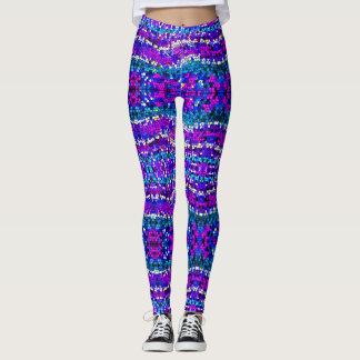 Leggings Polainas azules púrpuras de la turquesa del modelo