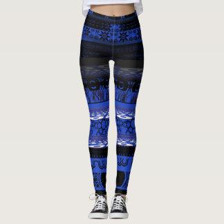 Leggings Polainas azules únicas frescas del diseñador