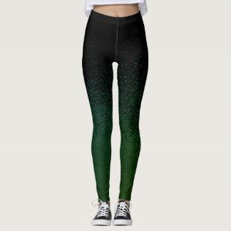 Leggings Polainas azules/verdes de la salpicadura