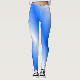 Leggings Polainas azules y blancas
