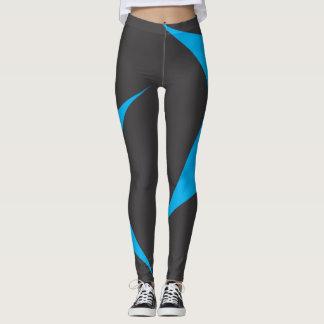 Leggings polainas azules y negras del modelo