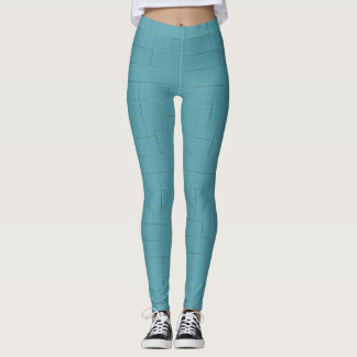Leggings Polainas azules y verdes de la rejilla