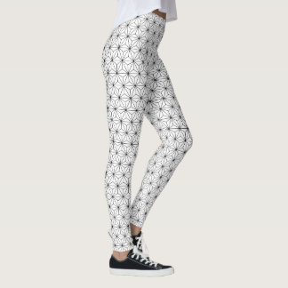 Leggings Polainas blancos y negros del modelo japonés de
