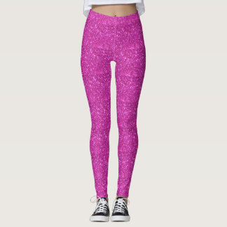 Leggings Polainas brillantes relucientes rosadas bonitas de