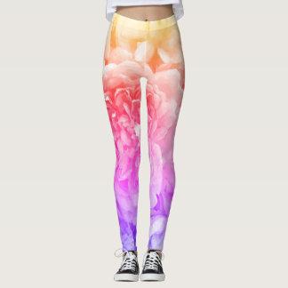 Leggings Polainas color de rosa multicoloras