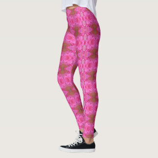 Leggings Polainas color de rosa rosadas de la mandala
