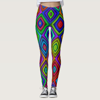 Leggings polainas coloreadas del diamante