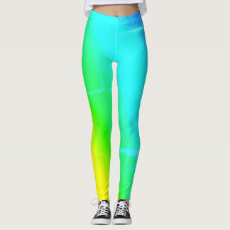 Leggings Polainas coloreadas multi del arco iris