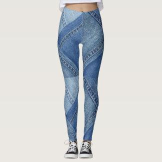Leggings Polainas coloreadas multi del dril de algodón
